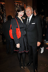 JASMINE GUINNESS and HAROLD TILLMAN at a party to celebrate the launch of the new Mulberry leather case for Apple's iPhone held at the Mulberry store, Bond Street, London on 5th November 2009.