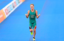 South Africa's Henri Schoeman wins gold in the Men's Triathlon Final at the Southport Broadwater Parklands during day one of the 2018 Commonwealth Games in the Gold Coast, Australia.