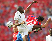 v.l. Illiasu Shilla, Vratislav Lokvenc Tschechien<br /> Fussball WM 2006 Tschechien - Ghana<br /> Tsjekkia <br /> Norway only