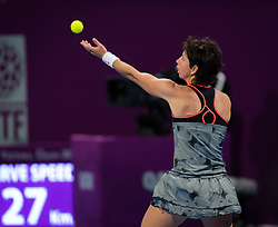 February 13, 2019 - Doha, QATAR - Carla Suarez Navarro of Spain in action during second round at the 2019 Qatar Total Open WTA Premier tennis tournament (Credit Image: © AFP7 via ZUMA Wire)