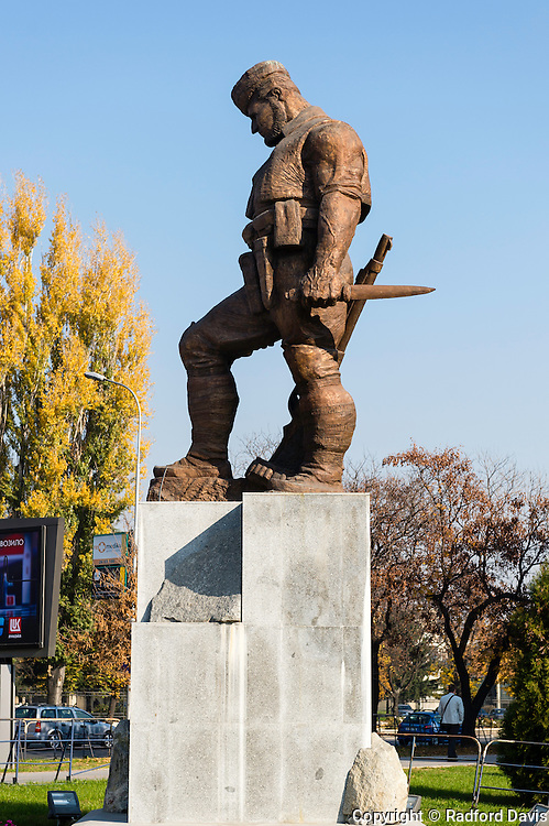 Monument in Skopje, Macedonia