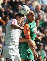 Fotball 11. september 2004, Bundeliga,<br />  Borussia Mönchengladbach - Werder Bremen<br /> v.l. Marcelo PLETSCH, Miroslav KLOSE