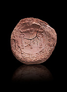 Hittite clay seal from  Hattusa, Hittite  Kingdom 1600-1200 BC, Bogazkale archaeological Museum, Turkey.