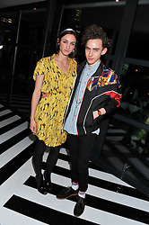 CARA HORGAN and OLLY ALEXANDER at the InStyle Best of British Talent Event in association with Lancôme and Avenue 32 held at The Rooftop Restaurant, Shoreditch House, Ebor Street, London E1 on 30th January 2013.