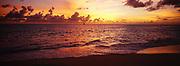 Cupecoy Beach dramatic sunset, Saint-Martin