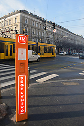 Emergency call points scattered throughout Budapest, Hungary