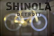 DETROIT, MI - OCTOBER, 30: The main entrance to Shinola's corporate offices and factory in Detroit, Michigan, Thursday, October 30, 2014. (Photo by Jeffrey Sauger)