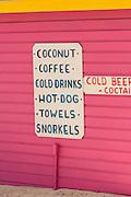 Colorful Junkanoo beach shop Nassau, Bahamas, Caribbean