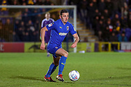 AFC Wimbledon midfielder Anthony Hartigan (8) dribbling during the EFL Sky Bet League 1 match between AFC Wimbledon and Peterborough United at the Cherry Red Records Stadium, Kingston, England on 12 March 2019.