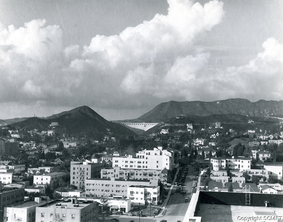 1925 Looking north from Hollywood Blvd. & Cahuenga Blvd.