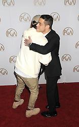Arrivals at the Producer's Guild Awards in Los Angeles, California. 28 Jan 2017 Pictured: Pharrell Williams, Rami Malek. Photo credit: ZUMA Press / MEGA TheMegaAgency.com +1 888 505 6342
