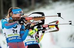 Olga Podchufarova (RUS)  during Women 12.5 km Mass Start at day 4 of IBU Biathlon World Cup 2015/16 Pokljuka, on December 20, 2015 in Rudno polje, Pokljuka, Slovenia. Photo by Vid Ponikvar / Sportida