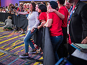 10 AUGUST 2019 - DES MOINES, IOWA: Senator KAMALA HARRIS, (D-CA), a Democratic Presidential candidate, poses for a selfie with gun violence survivors at the Presidential Gun Sense Forum. Several thousand people from as far away as Milwaukee, WI, and Chicago, came to Des Moines Saturday for the Presidential Gun Sense Forum. Most of the Democratic candidates for president attended the event, which was organized by Moms Demand Action, Every Town for Gun Safety, and Students Demand Action.             PHOTO BY JACK KURTZ