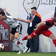 Besiktas's Tomas SIVOK (L) during their Turkish superleague soccer match Besiktas between Eskisehirspor at BJK Inonu Stadium in Istanbul Turkey on Monday, 16 May 2011. Photo by TURKPIX