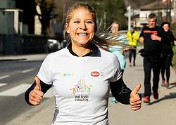Monika Topolnik, Priprave za Ljubljanski maraton 2019 v sodelovanju s sezanskim Malim kraskim maratonom, on March 9, 2019, in Mostec, Ljubljana, Slovenia. Photo by Vid Ponikvar / Sportida