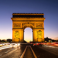 Arc de Triomphe, Paris, early evening