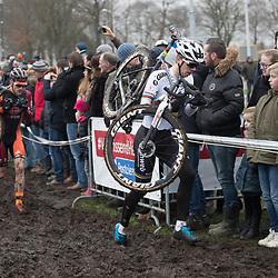 14-01-2018: Wielrennen: NK Veldrijden: Surhuisterveen<br />Joris Nieuwenhuis, Sieben Wouters