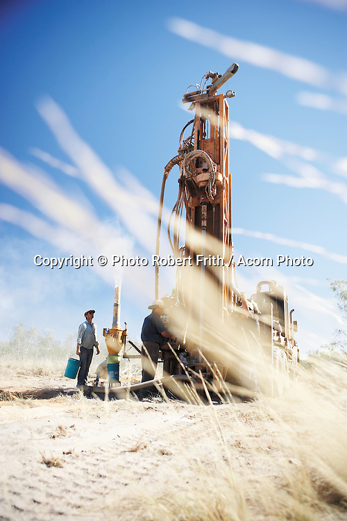 Exploration drilling rig onsite in the Kimberley Region