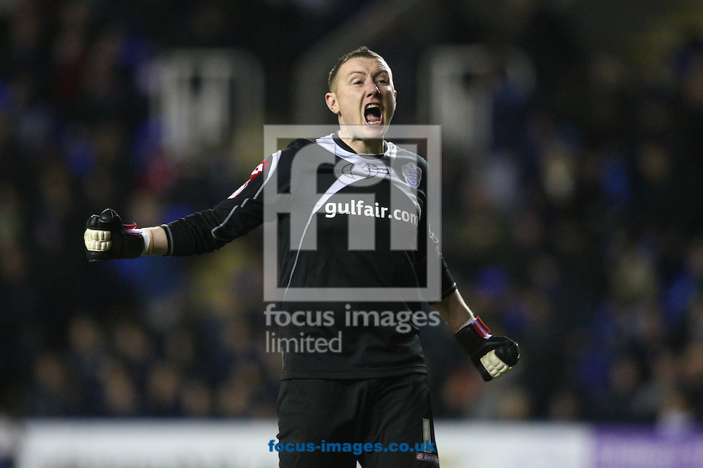 Paddy Kenny (1) of QPR celebrates their 0-1 win against Reading during the Npower Championship match between Reading and Queens Park Rangers at the Madjeski Stadium, Reading on Friday 4th February 2011. (Photo by Andrew Tobin/Focus Images)