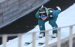 March 22, 2019 - Planica, Slovenia - Domen Prevc of Slovenia seen in action during the trial round of the FIS Ski Jumping World Cup Flying Hill Individual competition in Planica. (Credit Image: © Milos Vujinovic/SOPA Images via ZUMA Wire)