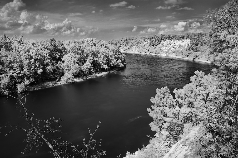 A true infrared photograph of this majestic river on the Florida Panhandle.