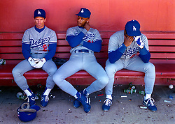 Brett Butler, Darryl Strawberry & Lenny Harris, 1991