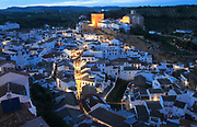 Easter procession at night through streets of Setenil de las Bodegas, Cadiz province, Spain