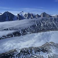 BAFFIN ISLAND, CANADA. Stewart Valley  from summit of Great Sail Peak.