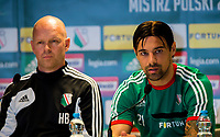 29/07/14 <br /> PEPSI ARENA<br /> WARSAW - POLAND<br /> Legia Warsaw captain Ivica Vrdoljak offers his thoughts to the media ahead of his side's Champions League qualifier against Celtic.