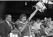 All Ireland Hurling Finals.1986..07.09.1986..09.07.1986..7th September 1986..September,every year,is the highlight of the GAA calendar with The All Ireland Finals being held in both codes. The senior and minor finals in each code are both played for on the same day. Each finalist has battled through provinical and knock out stages to reach the final.It is widely regarded as the pinnacle of a players career to reach and win an All Ireland Championship..In this years hurling finals,Cork played Offaly in the minor championship and a much fancied Galway team took on Cork in the senior final. Both matches were well fought and close encounters...Cork captain,Tom Cashman,makes the customary after match celebratory speech in which he praises the performance of the beaten Galway side..Cork emerged triumphant with a score of 4.13 (25) to Galways 2.15 (21).