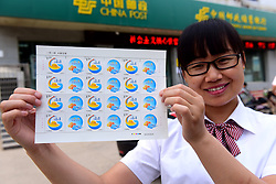 June 11, 2017 - Shijiazhuang, Shijiazhuang, China - Shijiazhuang, CHINA-June 11 2017: (EDITORIAL USE ONLY. CHINA OUT) ..China Post releases 'One Belt One Road' stamps on June 11th, 2017. (Credit Image: © SIPA Asia via ZUMA Wire)