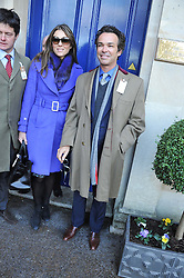 ELIZABETH HURLEY and HENRY DENT-BROCKLEHURST at the 2012 Hennessy Gold Cup at Newbury Racecourse, Berkshire on 1st December 2012