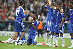 19.05.2012, Allianz Arena, Muenchen, GER, UEFA CL, Finale, FC Bayern Muenchen (GER) vs FC Chelsea (ENG), im Bild Didier DROGBA (FC Chelsea) betet // during the Final Match of the UEFA Championsleague between FC Bayern Munich (GER) vs Chelsea FC (ENG) at the Allianz Arena, Munich, Germany on 2012/05/19. EXPA Pictures © 2012, PhotoCredit: EXPA/ Eibner/ Eckhard Eibner..***** ATTENTION - OUT OF GER *****