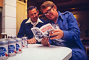 "Billy Carter and his friend Bud Duval look through a copy of ""Redneck Power - the Wit and Wisdom of Billy Carter"". William Alton - Billy - Carter (March 29, 1937 – September 25, 1988) was an American farmer, businessman, brewer, and politician, and the younger brother of U.S. President Jimmy Carter. Carter promoted Billy Beer and was a candidate for mayor of Plains, Georgia. Carter was born in Plains, Georgia, to James Earl Carter Sr. and Lillian Gordy Carter. He was named after his paternal grandfather and great-grandfather, William Carter Sr. and William Archibald Carter Jr. respectively. He attended Emory University in Atlanta but did not complete a degree. He served four years in the United States Marine Corps, then returned to Plains to work with his brother in the family business of growing peanuts. In 1955, at the age of 18, he married Sybil Spires (b. 1939), also of Plains. They were the parents of six children: Kim, Jana, William ""Buddy"" Carter IV, Marle, Mandy, and Earl, who was 12 years old when his father died."