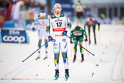 November 24, 2018 - Ruka, FINLAND - 181124 Moa Lundgren of Sweden crosses the finish line when competing in a women's sprint classic technique quarterfinal during the FIS Cross-Country World Cup premiere on November 24, 2018 in Ruka  (Credit Image: © Carl Sandin/Bildbyran via ZUMA Press)