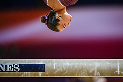 October 28, 2018 - Doha, Quatar - Sofia Bjoernholdt of Denmark   during  Balancing Beam qualification at the Aspire Dome in Doha, Qatar, Artistic FIG Gymnastics World Championships on 28 of October 2018. (Credit Image: © Ulrik Pedersen/NurPhoto via ZUMA Press)
