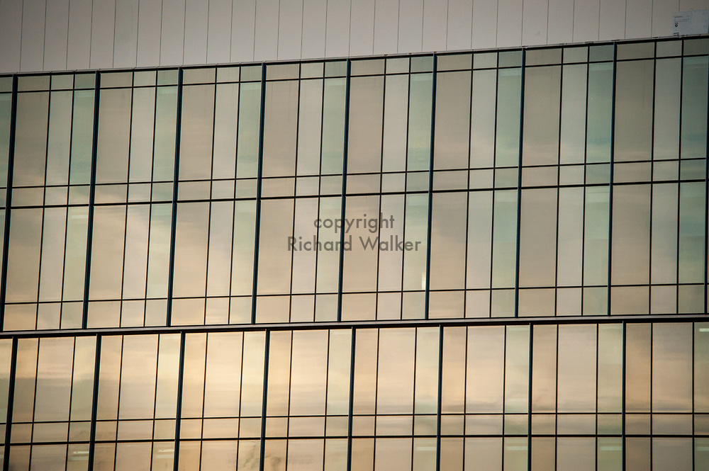 2018 APRIL 30 - Windows of a University of Washington building in South Lake Union, Seattle, WA, USA. By Richard Walker