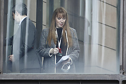 © Licensed to London News Pictures. 10/05/2021. London, UK. Newly appointed Shadow Chancellor of the Duchy of Lancaster Angela Rayner is seen in Parliament ahead of a shadow cabinet meeting. Labour Party leader Sir Keir Starmer has re-shuffled his cabinet after disappointing local election results. Photo credit: Peter Macdiarmid/LNP