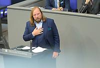 DEU, Deutschland, Germany, Berlin, 30.09.2020: Anton Hofreiter, Vorsitzender der Bundestagsfraktion von BÜNDNIS 90/DIE GRÜNEN, bei der Generaldebatte im Plenarsaal des Deutschen Bundestags.