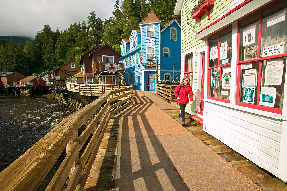 USA, Alaska, Inside Passage, Ketchikan, Historic Creek Street