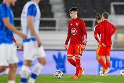 HELSINKI, FINLAND - Thursday, September 3, 2020: Wales' Dylan Levitt during the pre-match warm-up before the UEFA Nations League Group Stage League B Group 4 match between Finland and Wales at the Helsingin Olympiastadion. (Pic by Jussi Eskola/Propaganda)