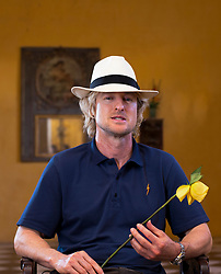 EXCLUSIVE: Owen Wilson poses for portrait photo shooting at the Casa Pestagua Cartagena Boutique Hotel in Cartagena de Indias, on March 4, 2018 in Cartagena, Colombia. Owen Wilson is in Cartagena as a special guest sharing his experiences within the activities of the 58th International Festival of Cartagena. Owen Wilson also poses with a yellow flower, in honor of the Nobel Prize for Literature, Gabriel Garcia Marquez. García Marquez lived a large part of his life in Cartagena, Colombia. 04 Mar 2018 Pictured: Owen Wilson. Photo credit: FICCI/FDA Media & films / MEGA TheMegaAgency.com +1 888 505 6342