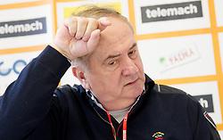 Bozidar Maljkovic during press conference of Basketball Federation of Slovenia on February 10, 2013 in Arena Golovec, Celje, Slovenia. (Photo By Vid Ponikvar / Sportida)