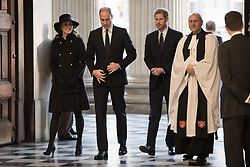 The Duke and Duchess of Cambridge with Prince Harry attend the Grenfell Tower National Memorial Service at St Paul's Cathedral in London, to mark the six month anniversary of the Grenfell Tower fire.