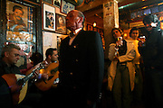 """""""Tasca do Chico"""" is one of the typical spots were to see live perfomances of Fado music and were the audience can spontaneously participate and also ask to sing. It is located in  Bairro Alto neighborhood."""