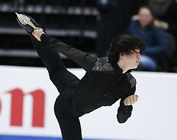 February 7, 2019 - Los Angeles, California, U.S - Junhwan Cha of South Korea competes in the Men Short Program during the ISU Four Continents Figure Skating Championship at the Honda Center in Anaheim, California on February 7, 2019. (Credit Image: © Ringo Chiu/ZUMA Wire)