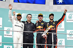 October 1, 2017 - Sepang, Malaysia - Motorsports: FIA Formula One World Championship 2017, Grand Prix of Malaysia, ..#44 Lewis Hamilton (GBR, Mercedes AMG Petronas F1 Team), #33 Max Verstappen (NLD, Red Bull Racing), #3 Daniel Ricciardo (AUS, Red Bull Racing) (Credit Image: © Hoch Zwei via ZUMA Wire)