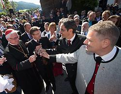 17.08.2014, Kongress, Alpbach, AUT, Forum Alpbach, Tiroltag, im Bild v.l. Erzbischof Franz Lackner, Tirols Landeshauptmann Günther Platter, Südtirols Landeshauptmann Dr. Arno Kompatscher, BM Andrä Rupprechter // during the tyrol Day of European Forum Alpbach at the Congress in Alpach, Austria on 2014/08/17. EXPA Pictures © 2014, PhotoCredit: EXPA/ Johann Groder