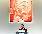 © Licensed to London News Pictures. 26/09/2011. LONDON, UK. Shadow Chancellor, Ed Balls delivers his speech at The Labour Party Conference in Liverpool today (26/09/11). Photo credit:  Stephen Simpson/LNP