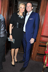 NADJA SWAROVSKI and RUPERT ADAMS at the 39th birthday party for Nick Candy in association with Ciroc Vodka held at 5 Cavindish Square, London on 21st Januatu 2012.